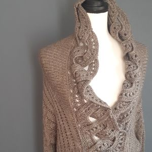 North style knitted cardigan sweater sz large